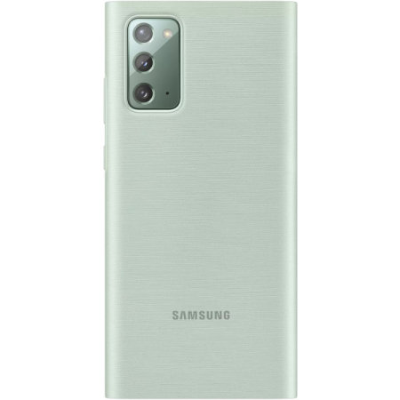Official Samsung Galaxy Note 20 Clear View Case - Mystic Green
