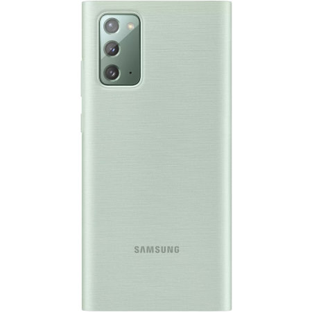 Official Samsung Galaxy Note 20 LED View Cover Case - Mystic Green