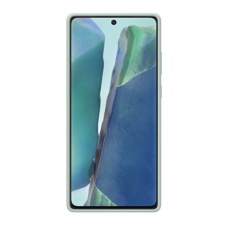 Official Samsung Galaxy Note 20 Silicone Cover - Mystic Green