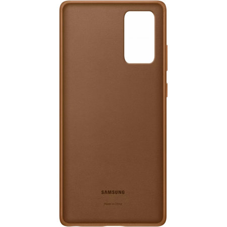 Official Samsung Galaxy Note 20 Leather Cover Case - Brown