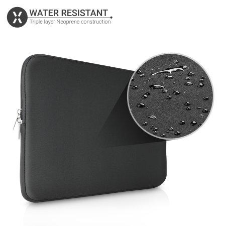"""Olixar Macbook Air 13"""" 2020 Neoprene Laptop Sleeve - Black"""