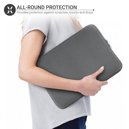 """Olixar Macbook Pro 13"""" 2020 Neoprene Laptop Sleeve - Grey"""
