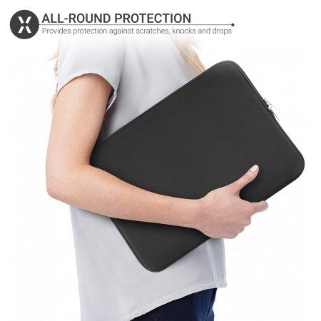 """Olixar iPad Pro 12.9"""" 4th 2020 Neoprene Tablet Sleeve - Black"""
