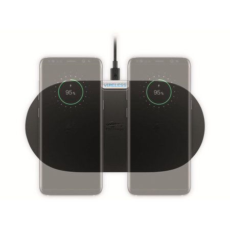 Goobay Qi Fast Wireless Duo Charging Pad 10W - Black