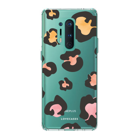 LoveCases OnePlus 8 Pro Leopard Print Clear Case - Multi