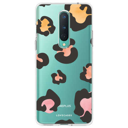 LoveCases OnePlus 8 Leopard Print Clear Case - Multi