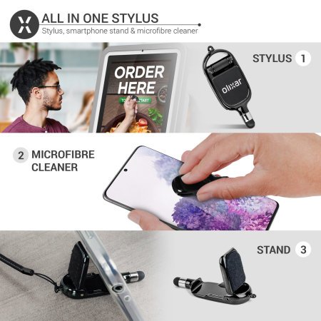 Olixar All-in-One Stylus, Stand and Microfibre Cleaner - 3 Pack