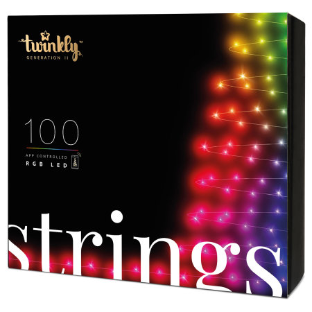 Twinkly Smart RGB LED Christmas String Lights Gen II - 100 LED's