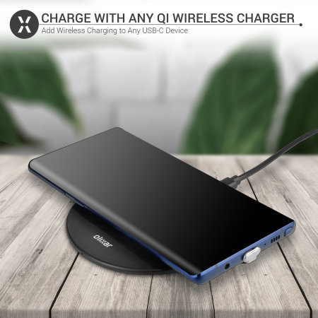 Olixar Samsung A21 Ultra Thin USB-C Qi Wireless Charging Adapter
