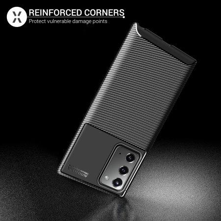 Olixar Carbon Fibre Samsung Galaxy Note 20 Case - Black