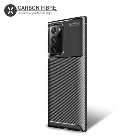 Olixar Carbon Fibre Samsung Galaxy Note 20 Ultra Case - Black