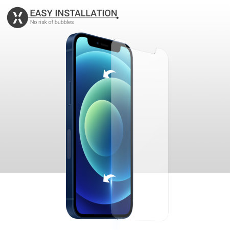 Olixar iPhone 12 Tempered Glass Screen Protector - Clear