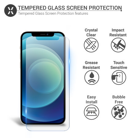 Olixar iPhone 12 Anti-Blue Light Tempered Glass Screen Protector