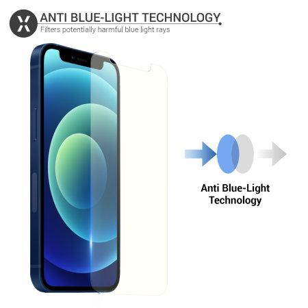 Olixar iPhone 12 mini Anti-Blue Light Tempered Glass Screen Protector