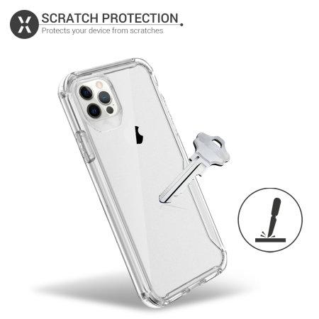 Olixar NovaShield iPhone 12 Pro Max Bumper Case - Clear