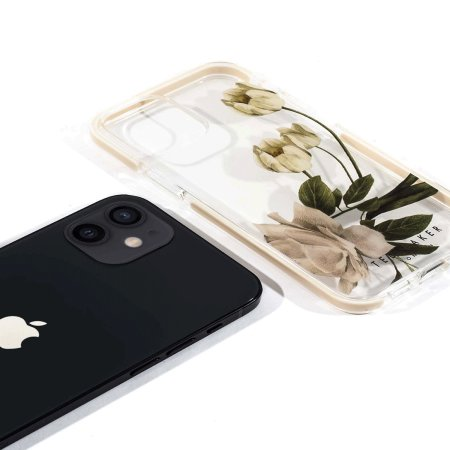Ted Baker Elderflower iPhone 12 mini Anti-Shock Case - Clear
