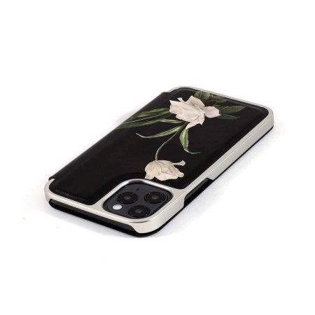 Ted Baker Elderflower iPhone 12 Pro Max Folio Case - Black / Silver