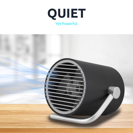 Olixar Cyclone Dual Speed Portable USB Desk Fan With Touch Controls