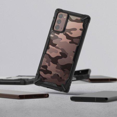 Ringke Fusion X Design Samsung Galaxy Note 20 Tough Case  - Camo Black