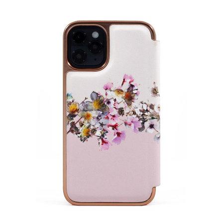 Ted Baker Jasmine iPhone 12 Pro Anti-Shock Folio Case - Rose Gold