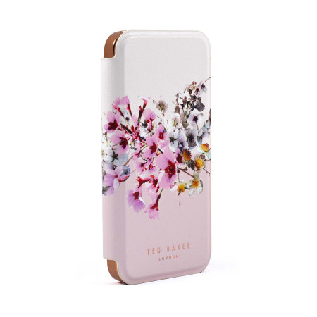 Ted Baker Jasmine iPhone 12 Pro Anti-Shock Folio Case - Rose Gold