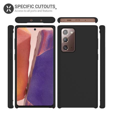 Olixar Samsung Galaxy Note 20 Soft Silicone Case - Black
