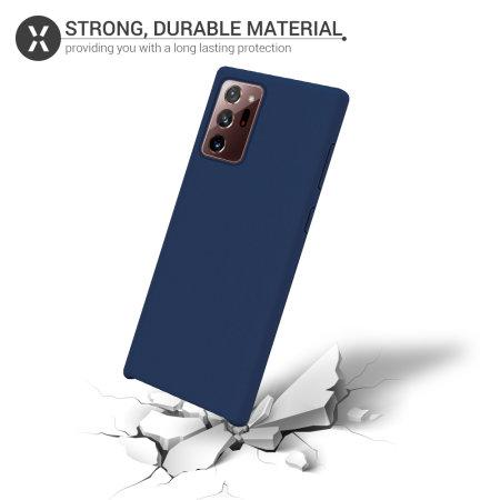 Olixar Samsung Galaxy Note 20 Ultra Soft Silicone Case - Midnight Blue