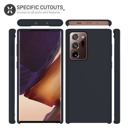 Olixar Samsung Galaxy Note 20 Ultra Soft Silicone Case - Black