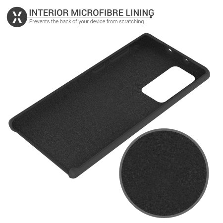 Olixar Samsung Galaxy Note 20 Ultra Soft Silicone Case - Black