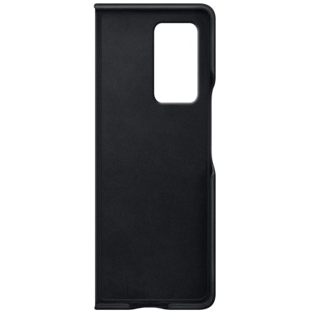 Official Samsung Galaxy Z Fold 2 5G Genuine Leather Cover Case - Black