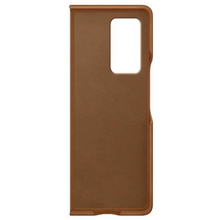 Official Samsung Galaxy Z Fold 2 5G Genuine Leather Cover Case - Brown