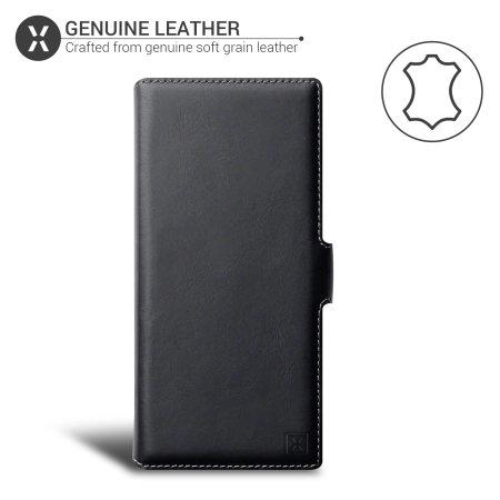Olixar Genuine Leather Samsung Galaxy Note 20 Wallet Case - Black