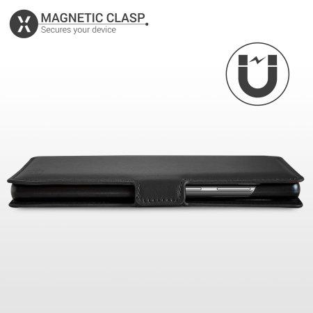 Olixar Genuine Leather Samsung Galaxy Note 20 Ultra Wallet Case Black