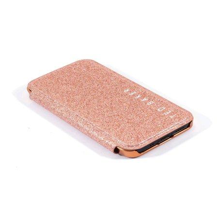Ted Baker Folio Glitsie iPhone 12 mini Flip Mirror Case - Pink