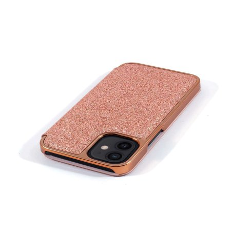 Ted Baker Folio Glitsie iPhone 12 Flip Mirror Case - Pink