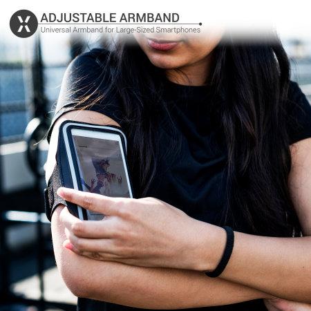 Olixar Running & Fitness Armband Holder for Large Smartphones - Black