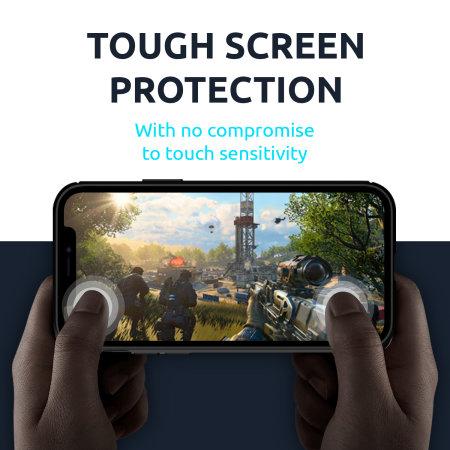 Olixar Sentinel iPhone 12 mini Case & Glass Screen Protector - Black