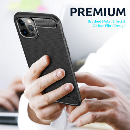 Olixar Sentinel iPhone 12 Pro Max Case & Glass Screen Protector Black