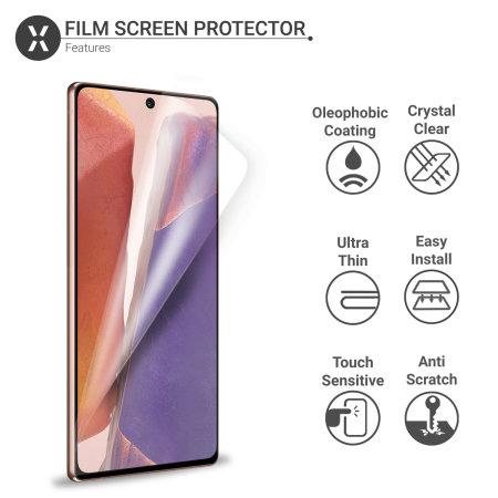Olixar Samsung Galaxy Note 20 Film Screen Protector 2-in-1 Pack