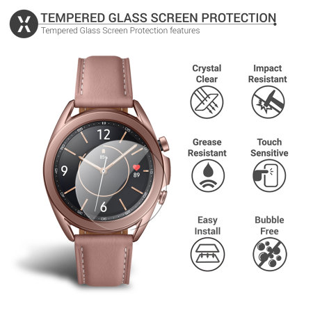 Olixar Samsung Galaxy Watch 3 Tempered Glass Screen Protector - 41mm