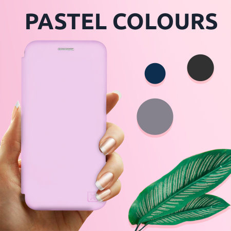 Olixar Soft Silicone iPhone 12 Pro Max Wallet Case - Pastel Pink