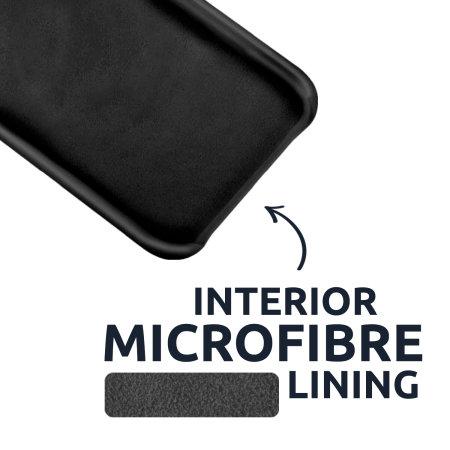 Olixar Soft Silicone iPhone 12 mini Case - Black