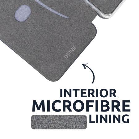 Olixar Soft Silicone iPhone 12 Wallet Case - Grey