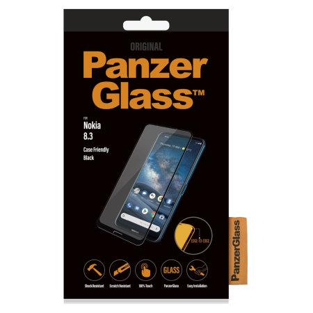PanzerGlass Nokia 8.3 Case Friendly Glass Screen Protector - Black
