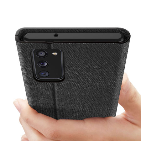 Araree Bonnet Samsung Galaxy Note 20 Wallet Stand Case - Black