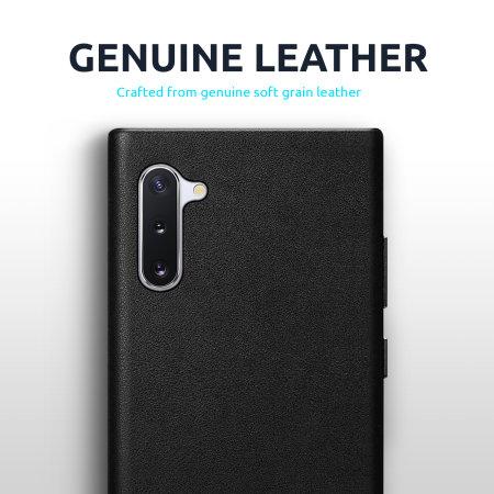 Olixar Genuine Leather iPhone 12 Case - Black