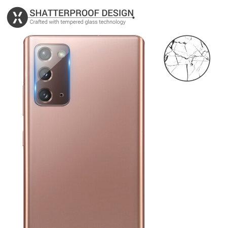 Olixar Samsung Galaxy Note 20 Tempered Glass Camera Protectors 2 Pack