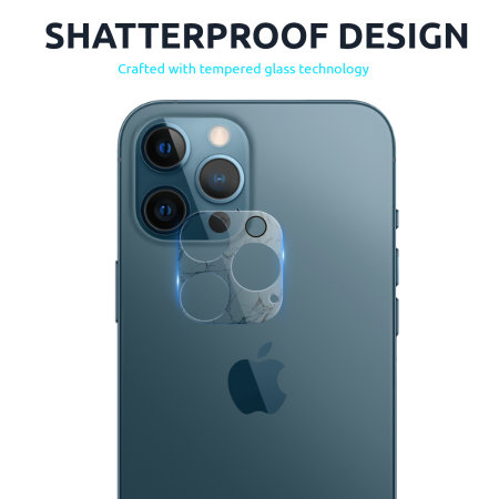 Olixar iPhone 12 Pro Tempered Glass Camera Protector - Twin Pack