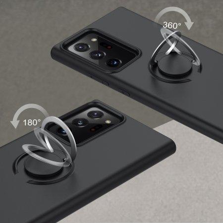 Zizo Revolve Series Samsung Galaxy Note 20 Ultra Ring Case - Black