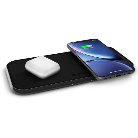 Zens Qi-Certified Dual 15W Fast Wireless Charging Pad - Black